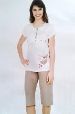 Pižama su bridžais maitinančiai mamai, GPB-022