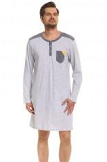 Vyriški medvilniniai naktiniai marškinėliai OVN-048