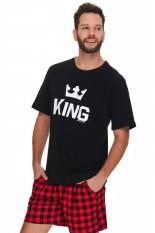 Vyriška medvilninė pižama su šortais, KING, OVS-054
